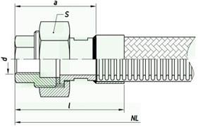 Металлорукав с арматурой hm090
